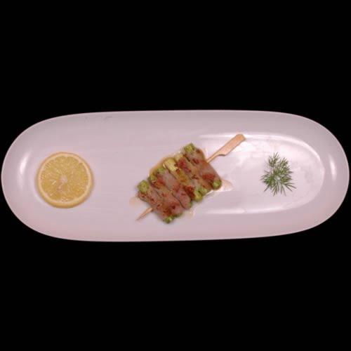 Sticks med asparges i svøb